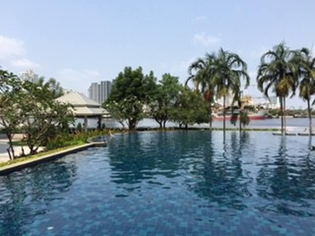 1BR,Chaopraya RiversideApt,easy BTS - Bangkok - Flat