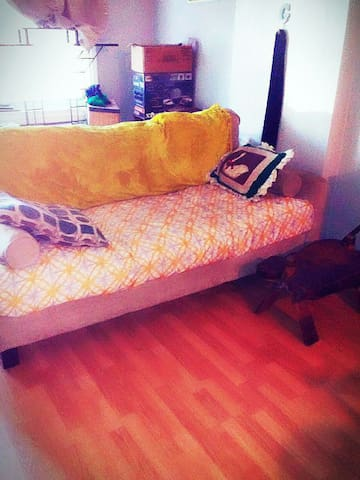 Our big plush couch! - Philadelphia - Rumah
