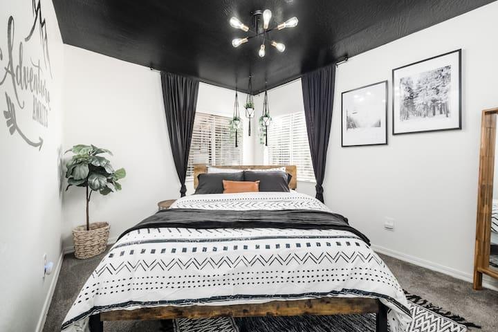 Queen memory foam mattress to ensure a restful night of sleep.