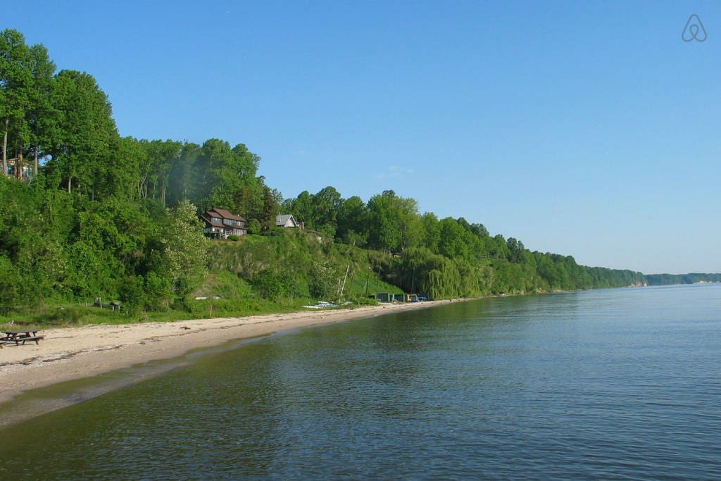Mile long private beach
