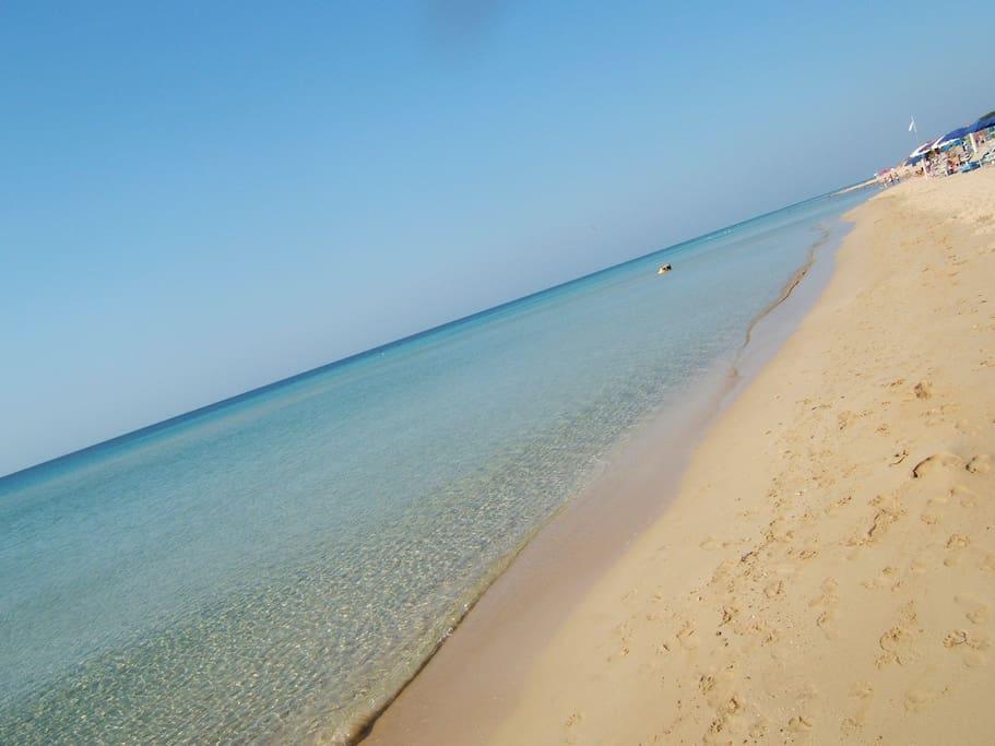 La spiaggia a 50 metri da casa