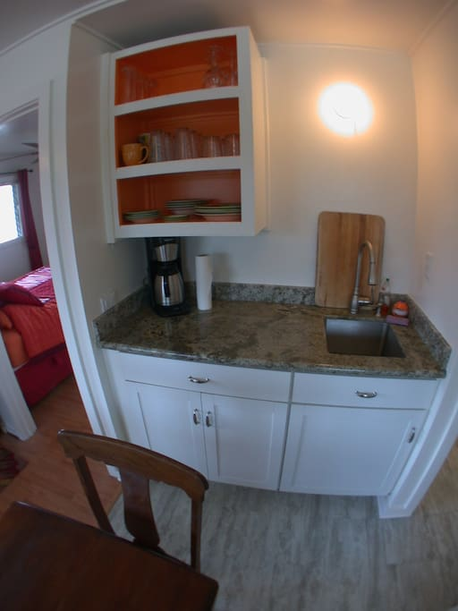 New cabinets and granite in this fully equipped kitchen.