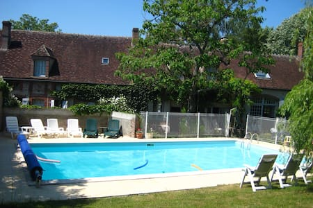 renovated farmhouse with pool - Saint-Maurice-le-Vieil - Dům