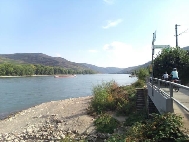 Hell und freundlich mit Blick auf den Rhein