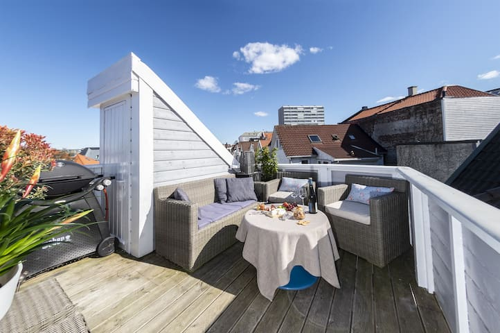 Apartment in city center with rooftop terrace