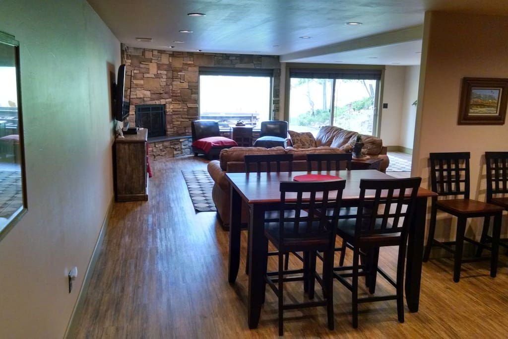 Dining area next to the living area is just some of your spacious 1100 sq ft of space.
