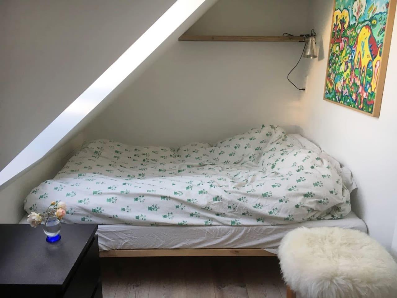 Marehalm-suiten...lille dobbeltseng..180 cm lang:)
