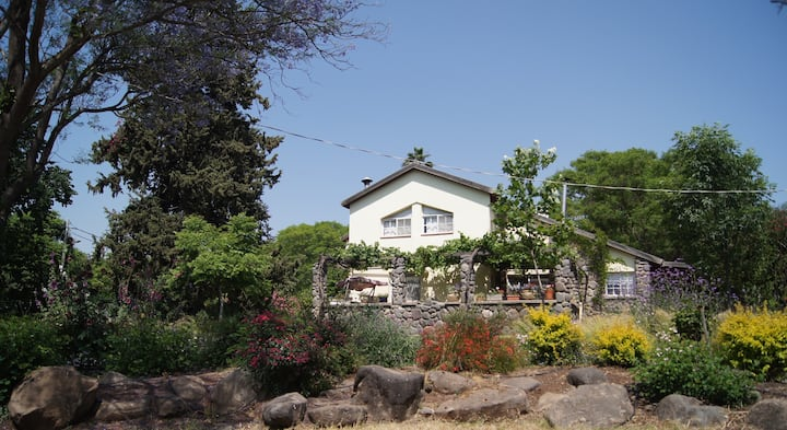 Farm house in the hills above the Sea of Galilee.