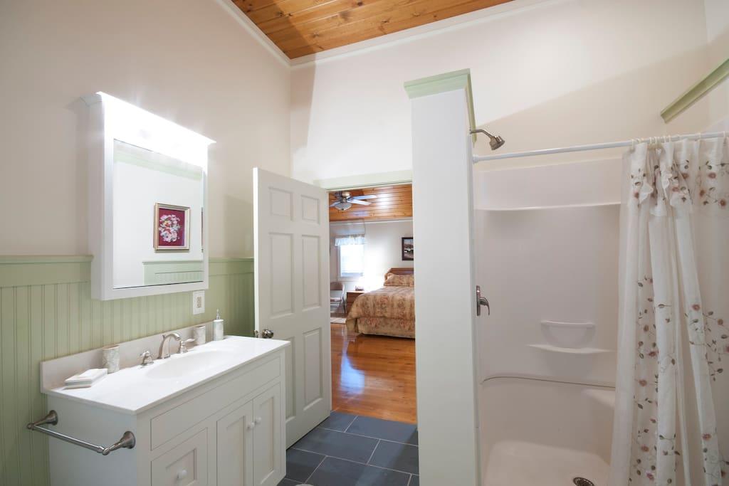 The bathroom!
