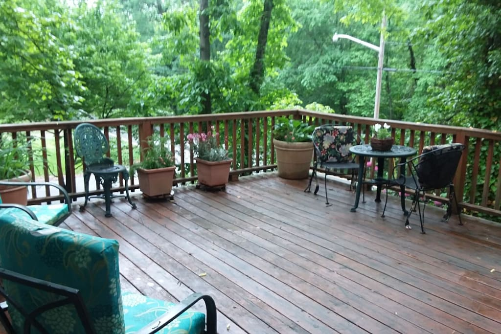 Enjoy the peace and quiet on the deck.