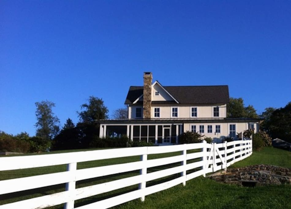 "Custom built new farmhouse designed to ""look old"" but fit into the countryside, within walking distance of historic Waterford Village."