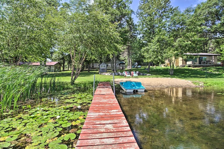 NEW! Waterfront Hideaway with Beach & Paddle Boat!