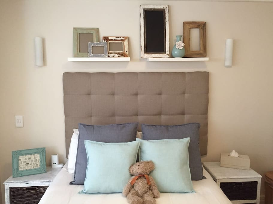 Main bedroom with comfy double bed