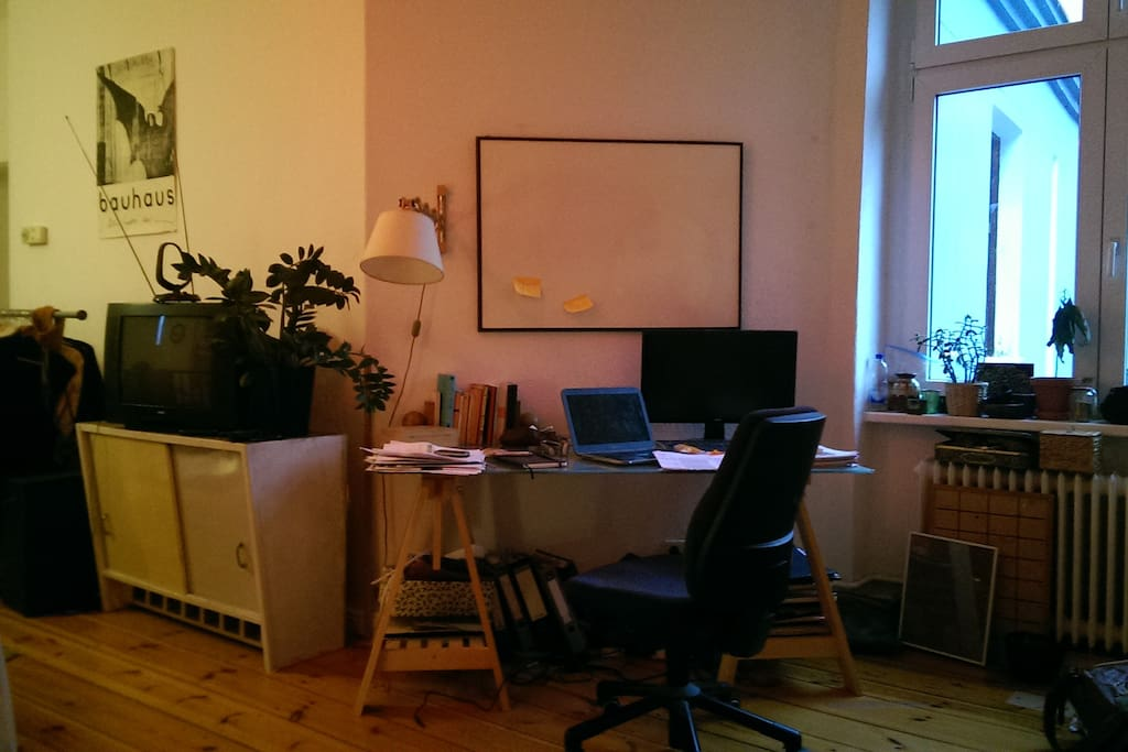 the desk and working corner
