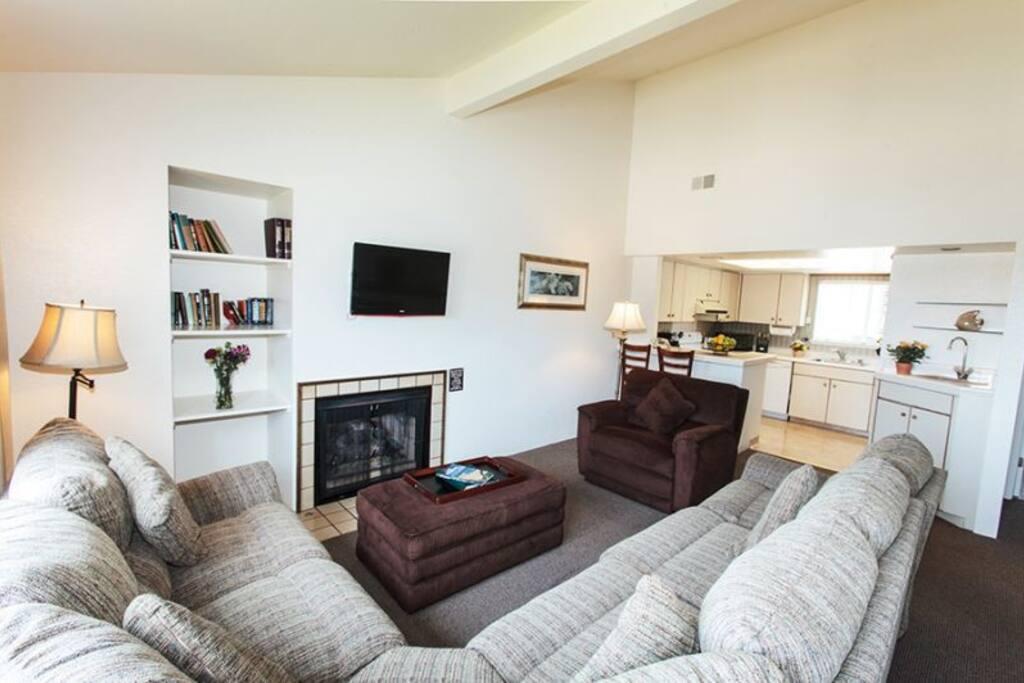 Living Room on second floor with sleeper sofa