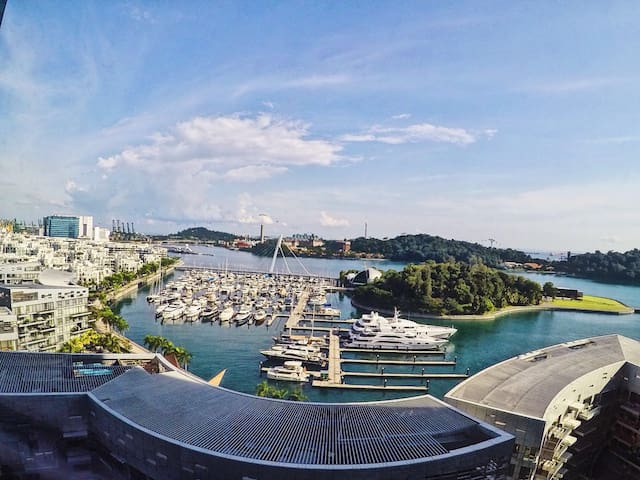 Haven by the bay,Seaview 2bd apt, Sentosa, Central