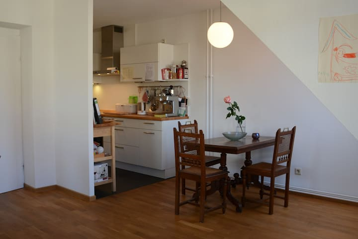 very light 60qm in Mitte, quiet, river-view - Berlin - Apartament