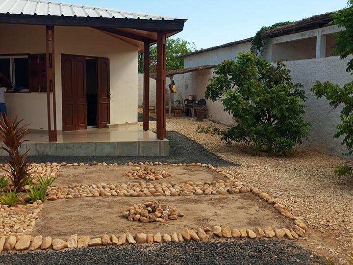 Un villa plain pied comprenant deux chambres
