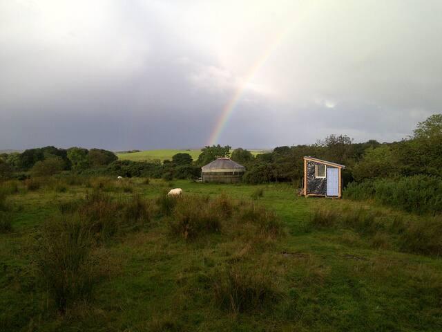 rainbows yurts and washroom/ toilet