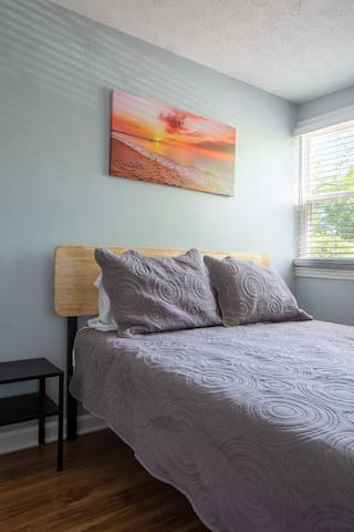 Retreat in the calming Guest room 1.
