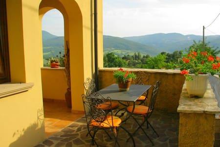 on the valley in the small village - Castelnuovo di Val di Cecina
