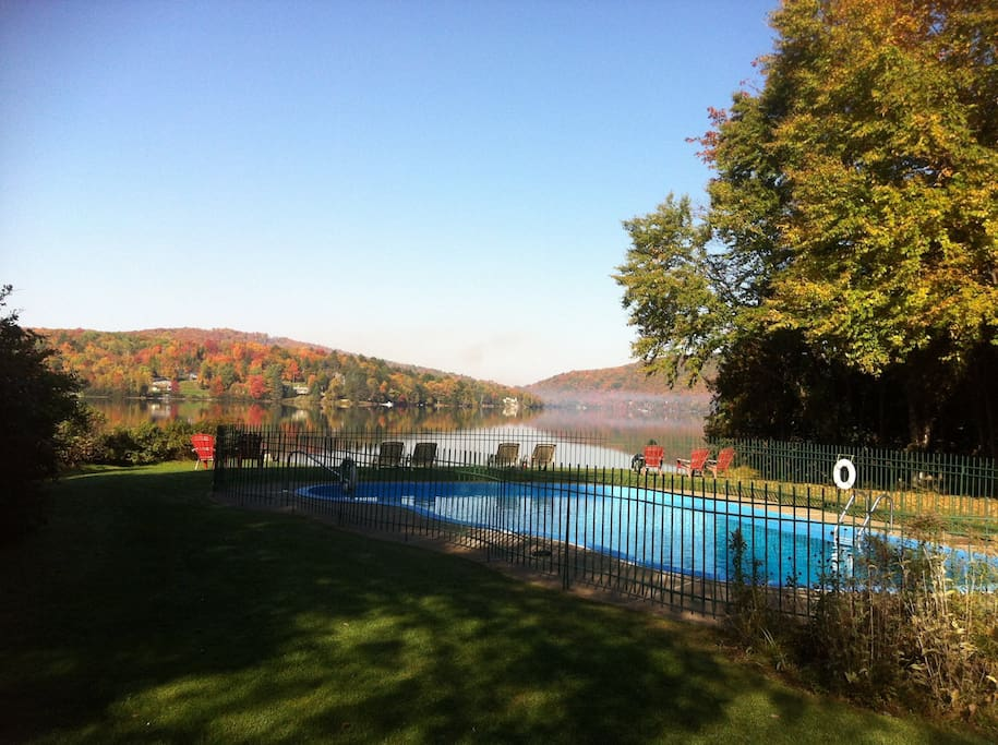Because you are  guests, you have access to our heated pool during the summer months.