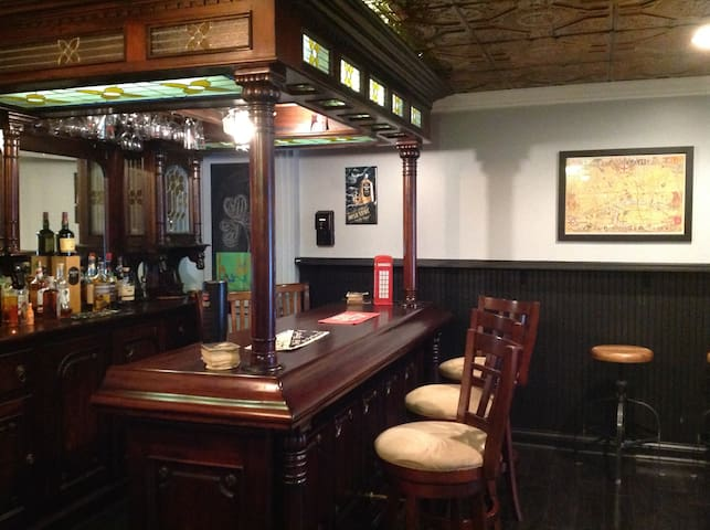 A private basement pub experience