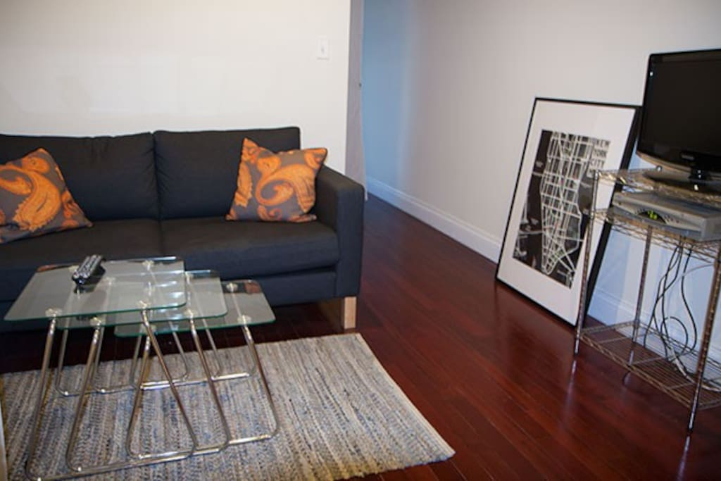 Make yourself at home in the living area.  Relax and read a book or watch some television.