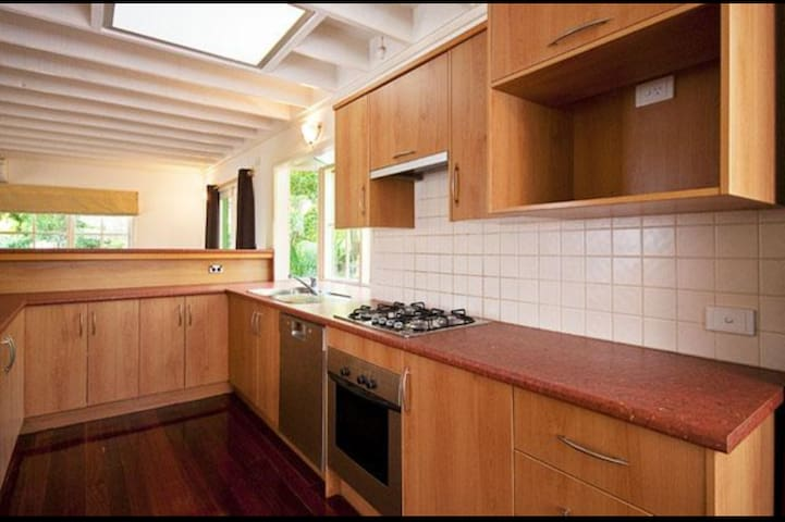 Kitchen complete with coffee machine, soda stream and all other amenities