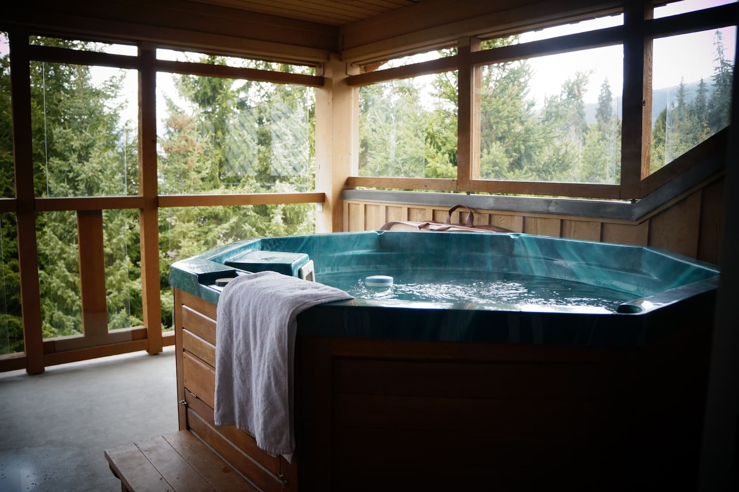 Private hot tub off the master bedroom