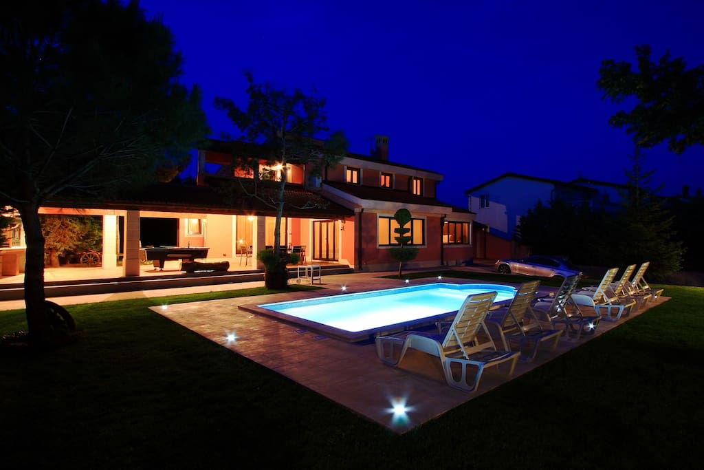 Our Villa is charming at night