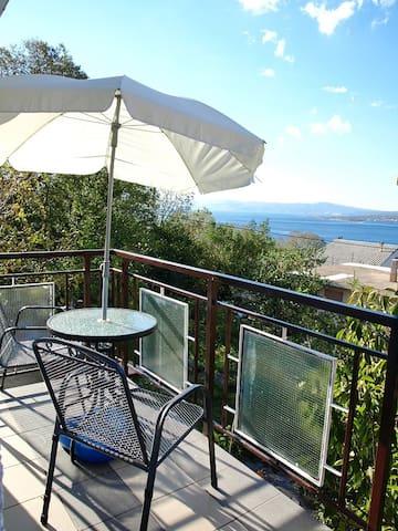 Sea View Studio Apartment with Balcony