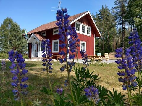 Sandbacken modern cottage in the forest