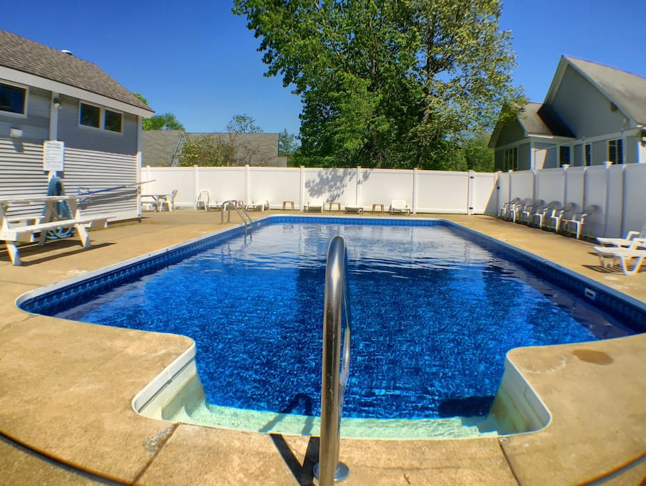 The heated outdoor pool is open from mid-June to mid-September. (Hours may be limited in July/August for private parties.)