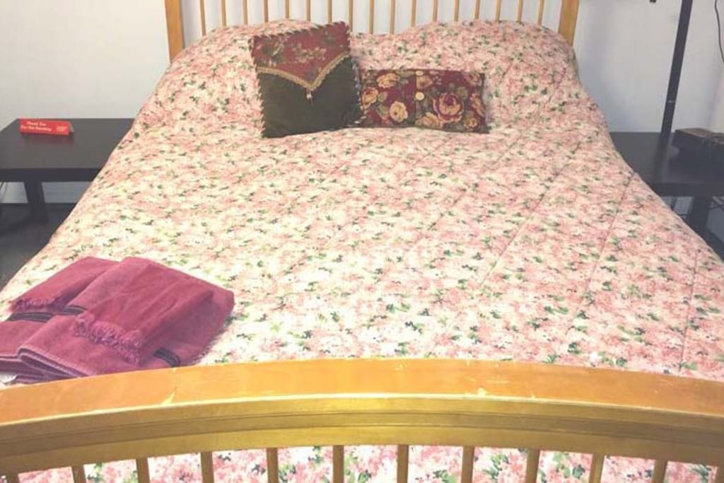 New Queen bed in master bedroom