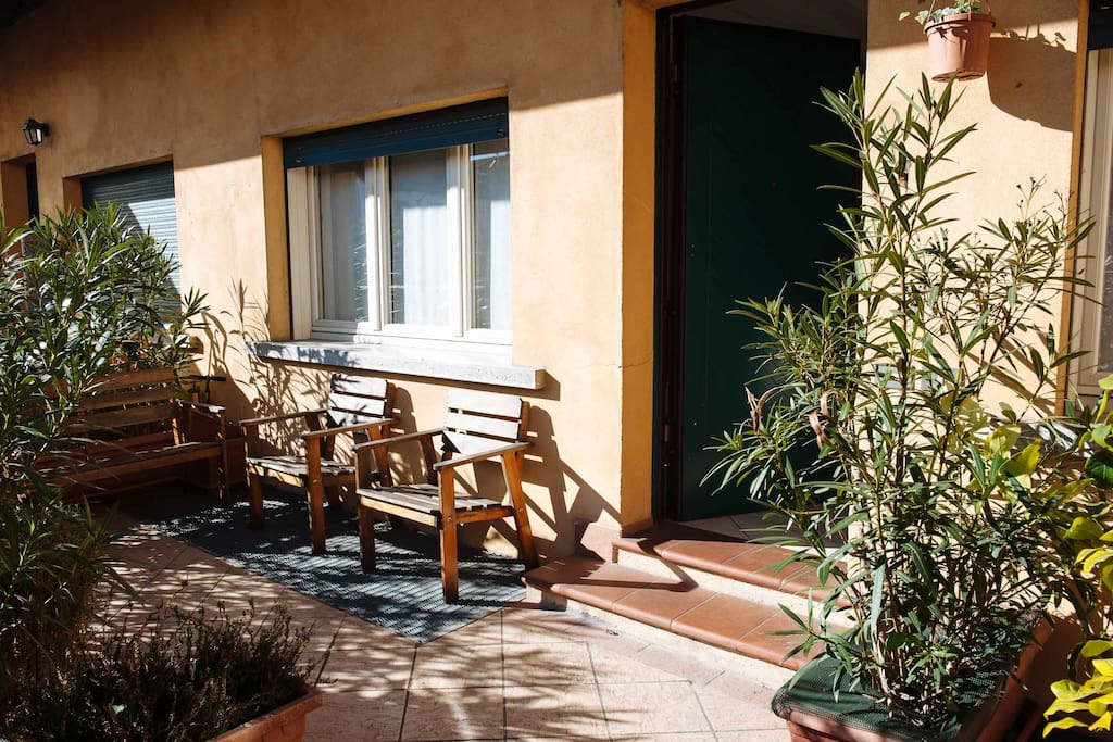 we have an amazing private terrace where you can enjoy a coffee before starting your day!