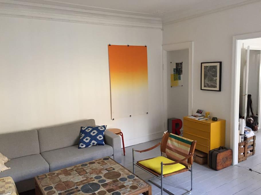 Stue med sofa (seng til 1 person)