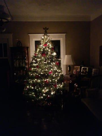 Christmas in formal sitting room