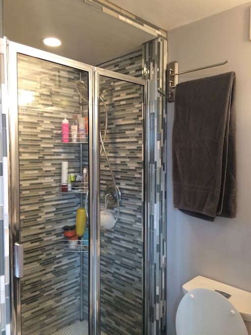 Newly remodeled bathroom and shower