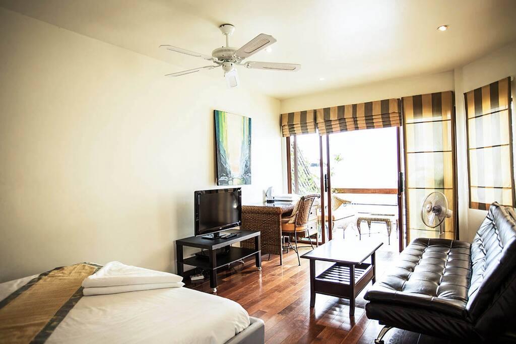 Each apartment has a balcony.