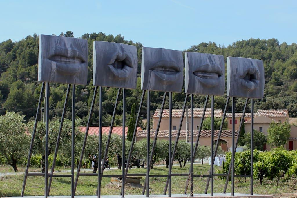 les Bouches de l'entrée du Domaine des Peyre