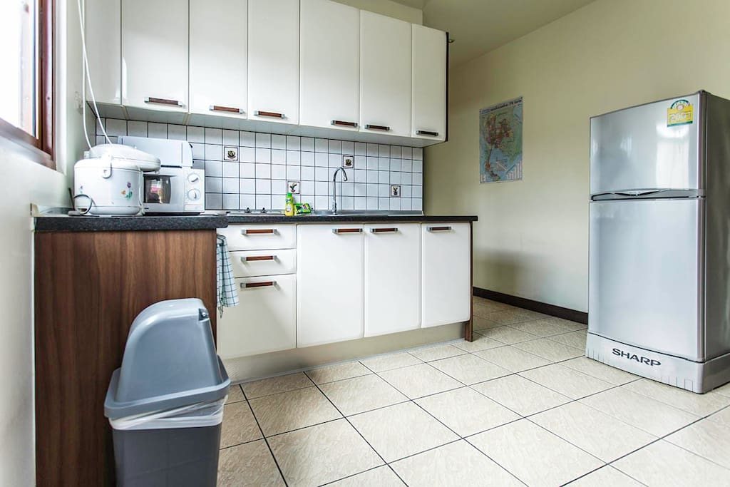 Nicely equipped kitchen in every apartment.