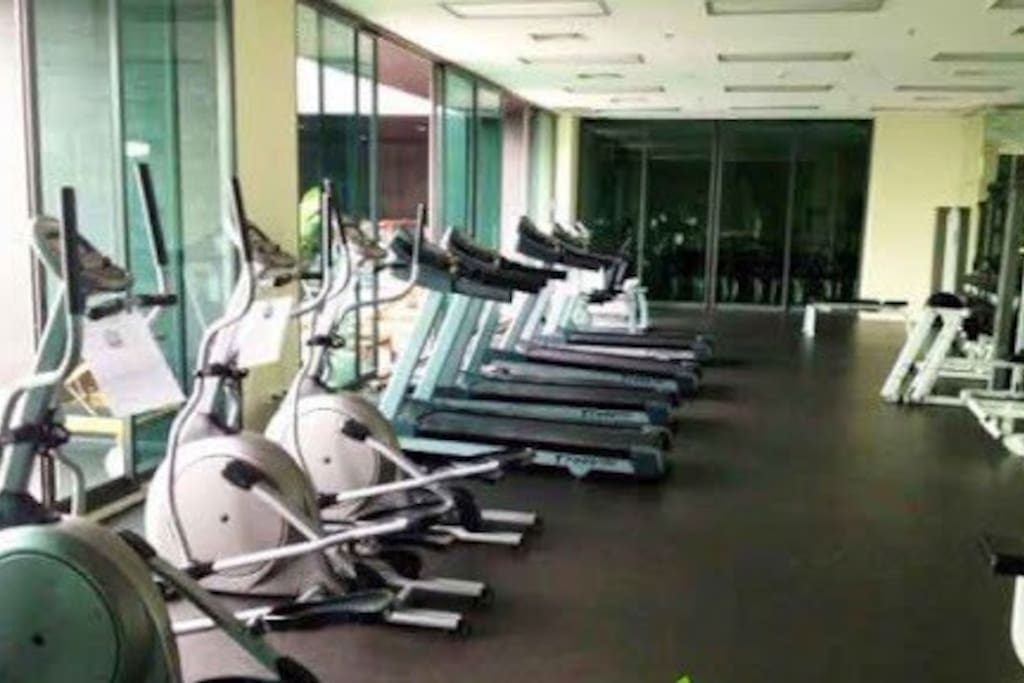 Fitness gym and sauna.