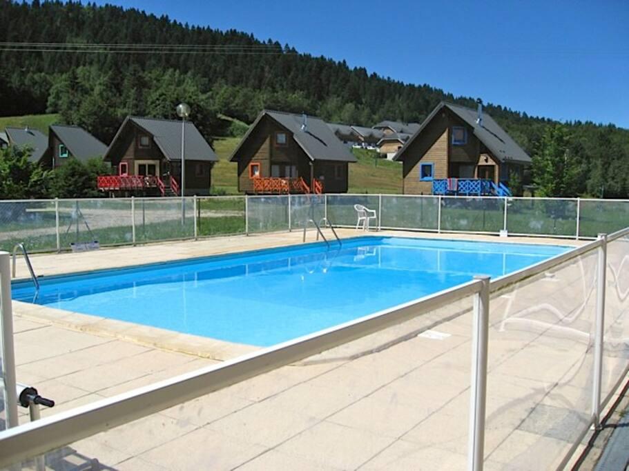 La piscine réservée aux résidents!