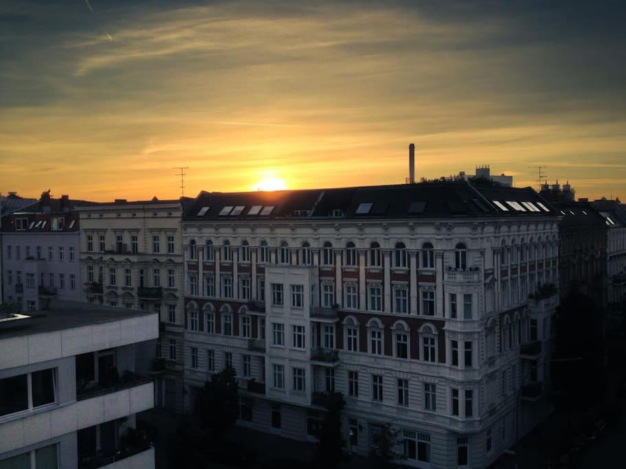 Sonnenuntergang von uns aus