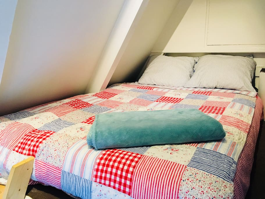 Bed 2 (when you want to sleep with two persons it will be cosy - 140cm)
