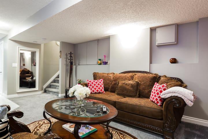 Enjoy Our Modern Basement Suite!!!