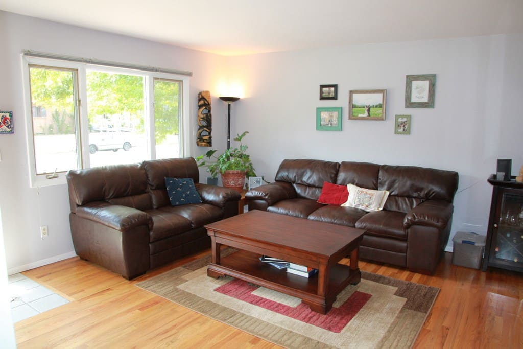 Fall right into our comfy leather couches
