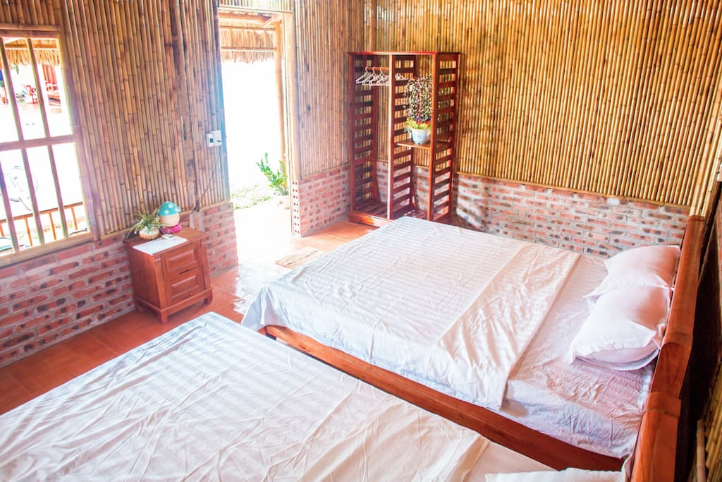 Bungalow with 2 double bed