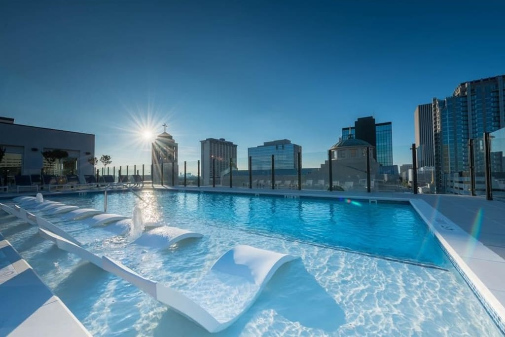 Salt Water Pool with Downtown Views